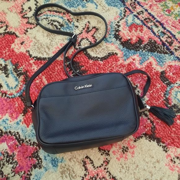 Calvin Klein Leather Crossbody Camera Bag